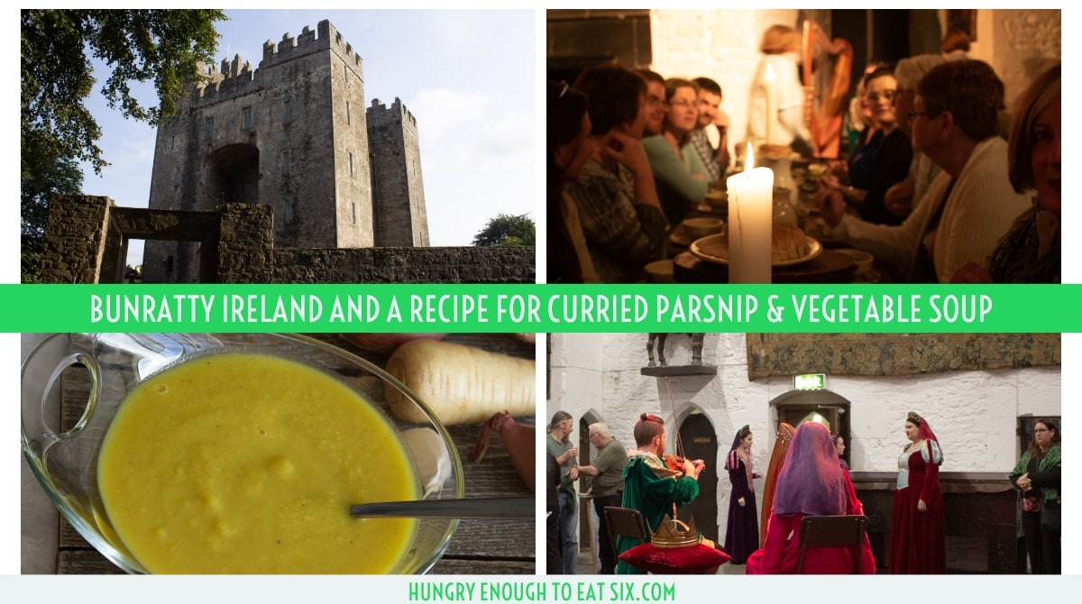 Horizontal image for Facebook of a Bunratty trip collage