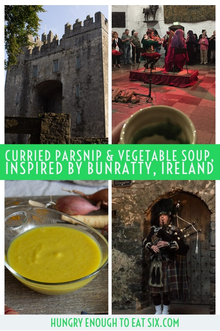 Tall image for Pinterest of a Bunratty trip collage
