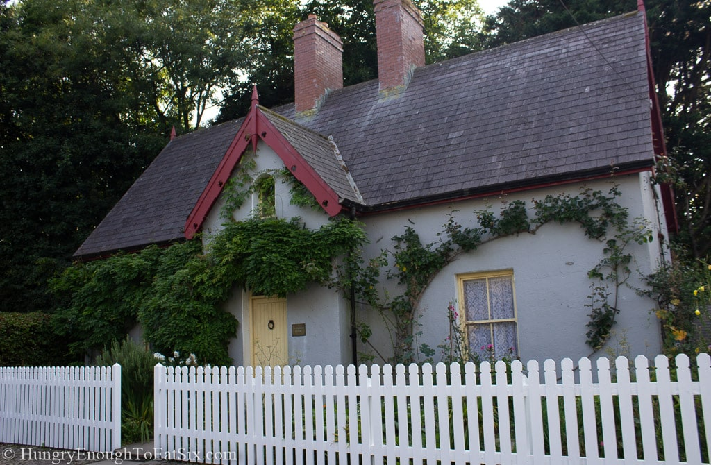 Image of a vine covered cottage on grounds of Bunratty Castle