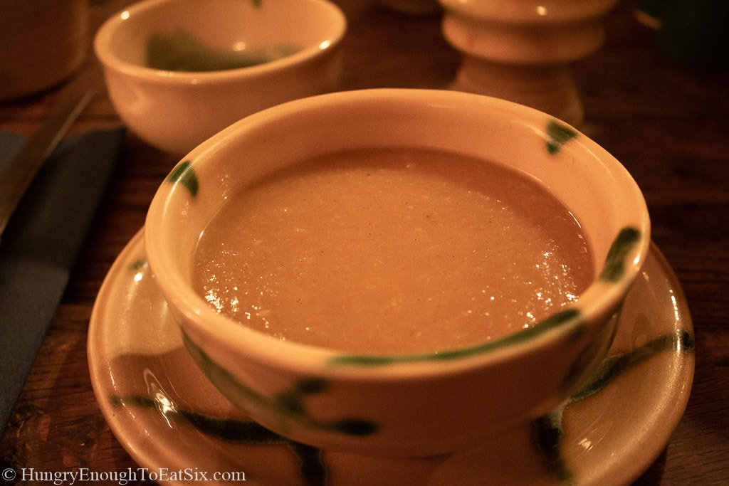 Image of vegetable soup at medieval feast, Bunratty Castle