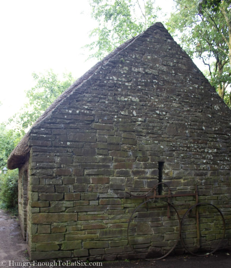 Image of stone building on grounds of Bunratty Castle