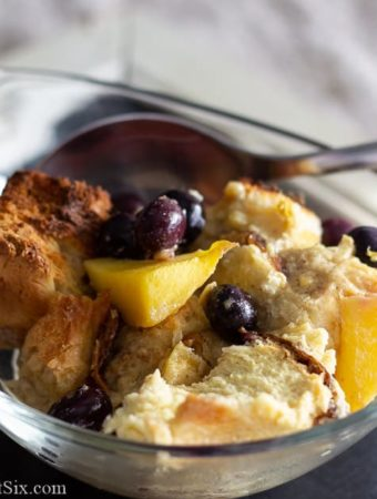 Image of a dish of bread pudding