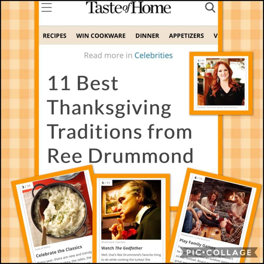 11 Best Thanksgiving Traditions from Ree Drummond: an article for Taste Of Home