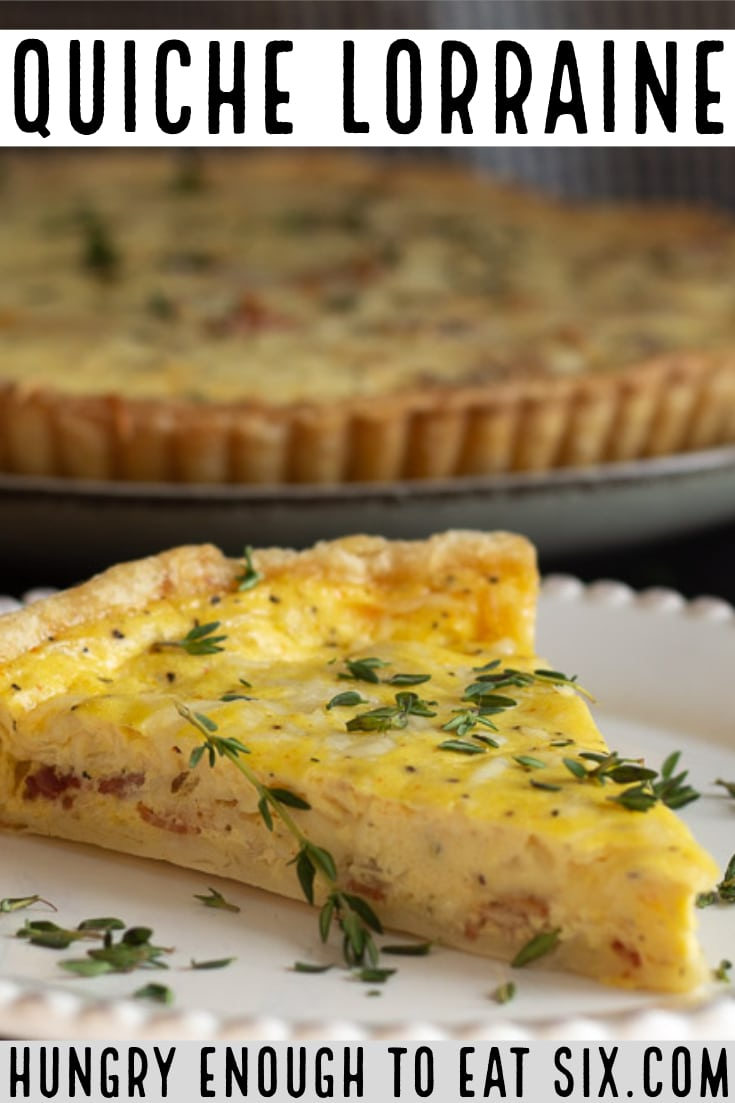 This is a classic quiche with bacon and Gruyère cheese, a sophisticated and more importantly, delicious choice for breakfast or lunch! #makeaheadbreakfast