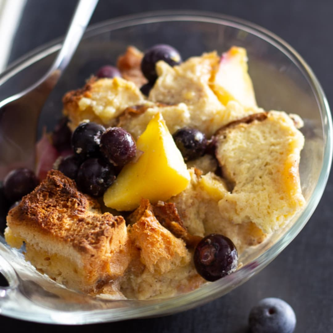 Image of a bowl of bread pudding