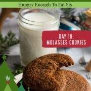 Molasses cookies with a glass of milk