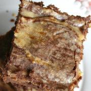 Brownies with swirls of cream cheese