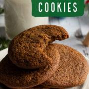 Stack of dark molasses cookies
