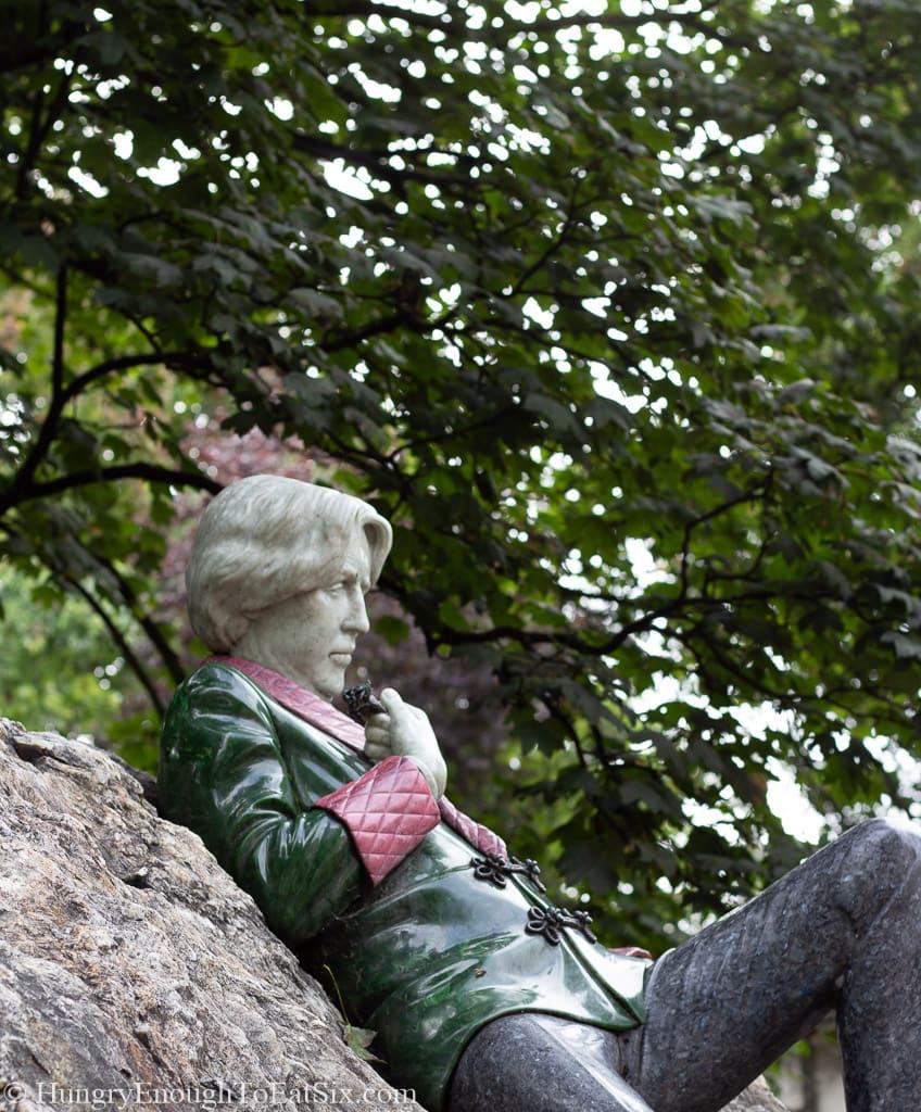 Statue on a large boulder