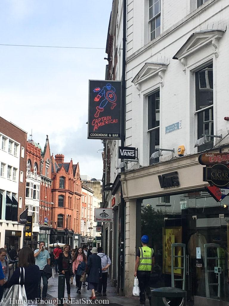 Corner of a busy street