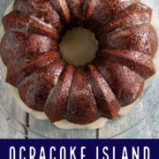 Whole, glazed Bundt cake