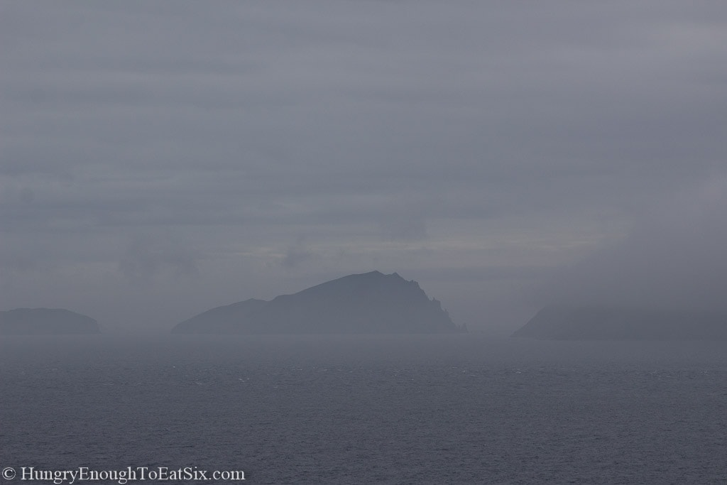 Hill tops in the fog
