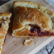 Hand pie with pumpkin and cranberry filling