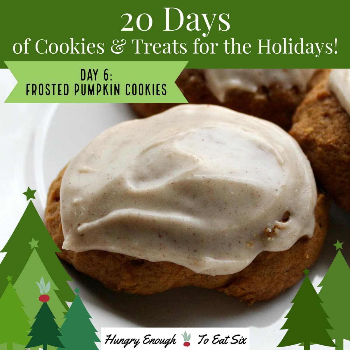 Frosted dark cookie