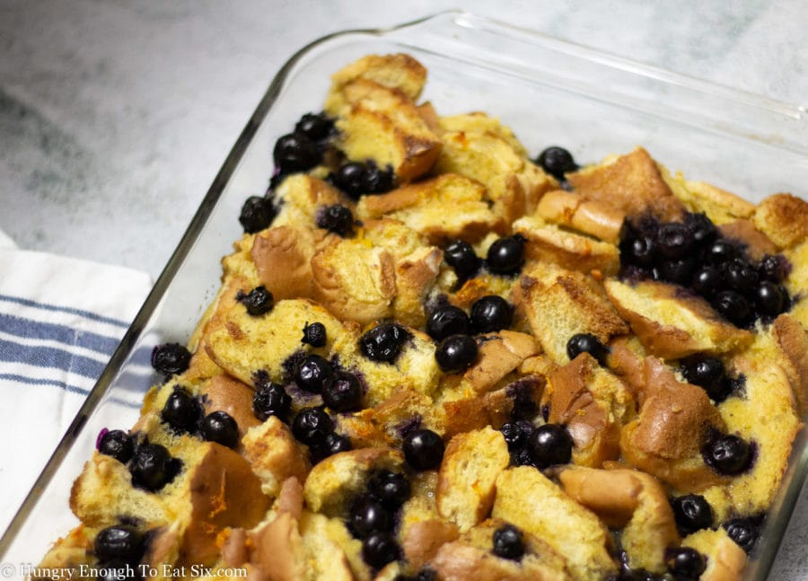French Toast Bake in a pan.
