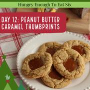 Peanut butter cookies with a caramel center