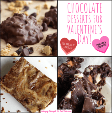 Collage of four chocolate desserts