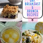 Breakfast and brunch recipe ideas in a collage.