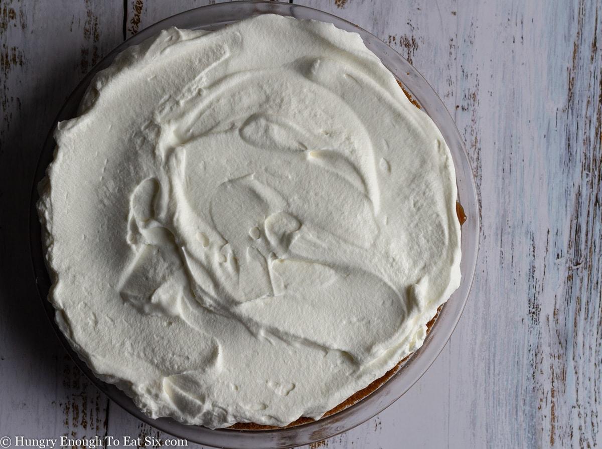 Cream topped pie
