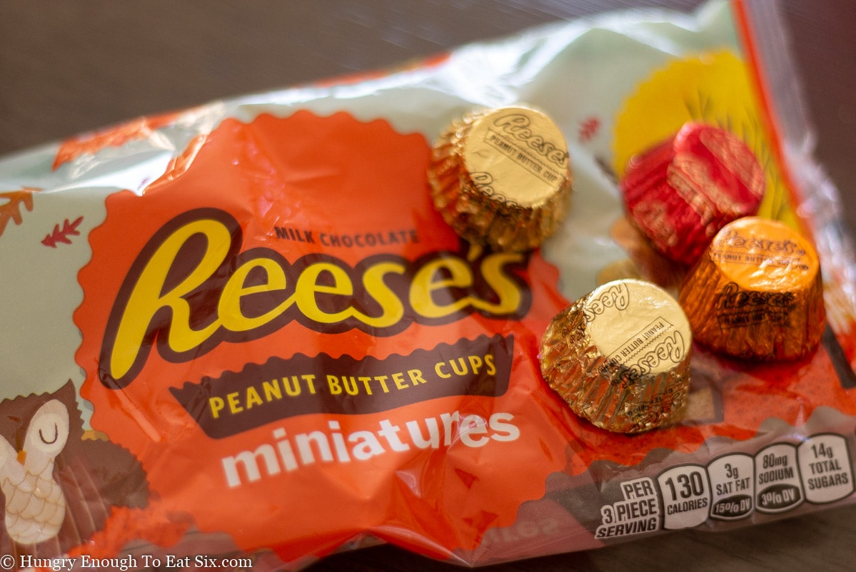 bag of miniature peanut butter cups