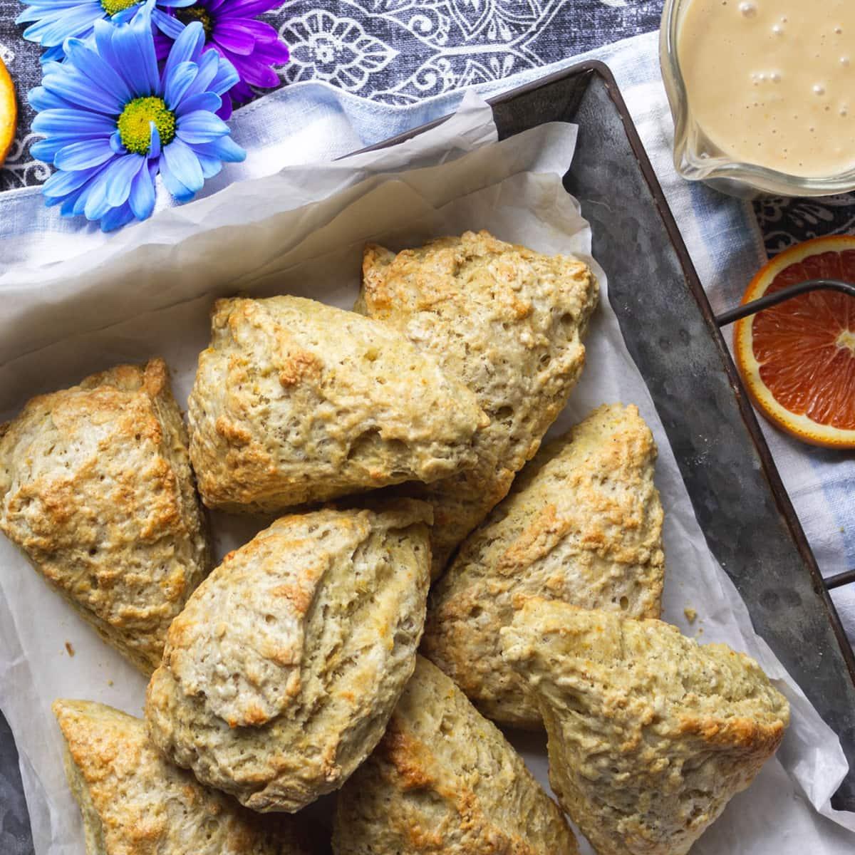 Baked pan of scones