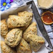 Pan of browned scones