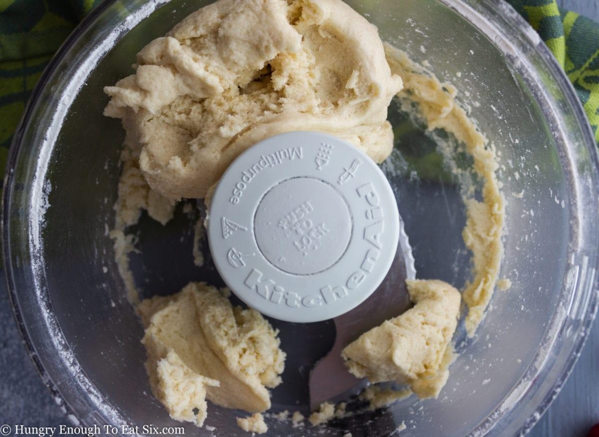 Dough in a food processor