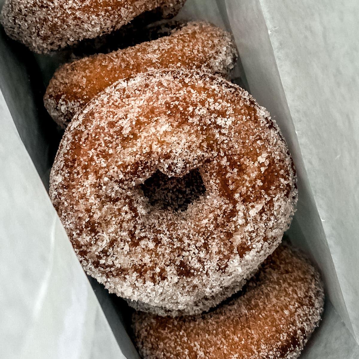 Doughnuts in a white bag